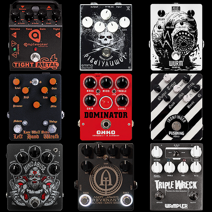 9 of the Best Vertical Medium Enclosure High Gain Metal Distortion Pedals