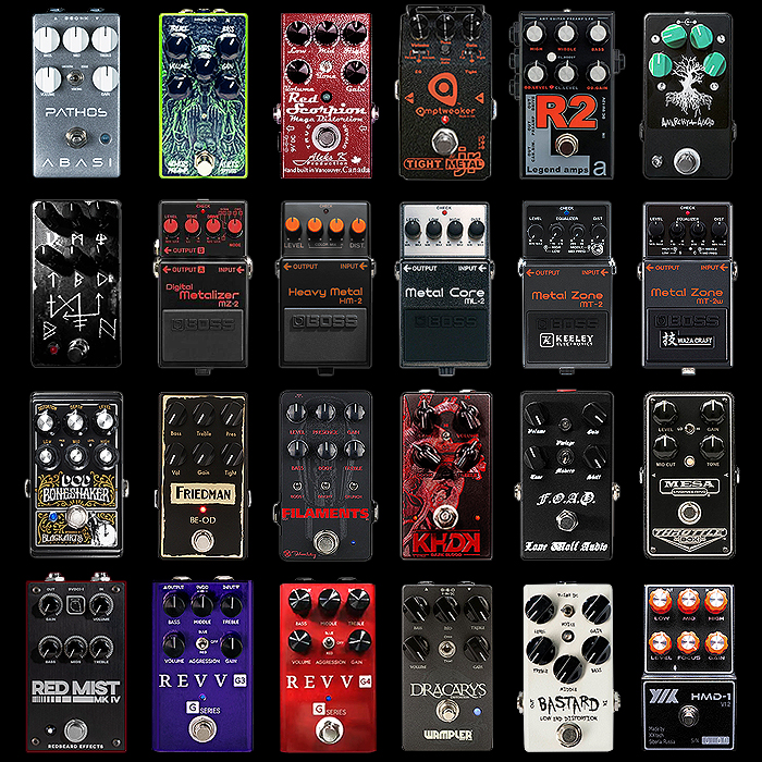 24 of the Best Compact High Gain and Metal Style Distortion Pedals - Updated 2019 Edition