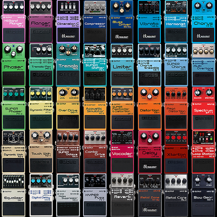 Pedal Design 101 - The Boss Colour Chart and 40 Shades of Tone!