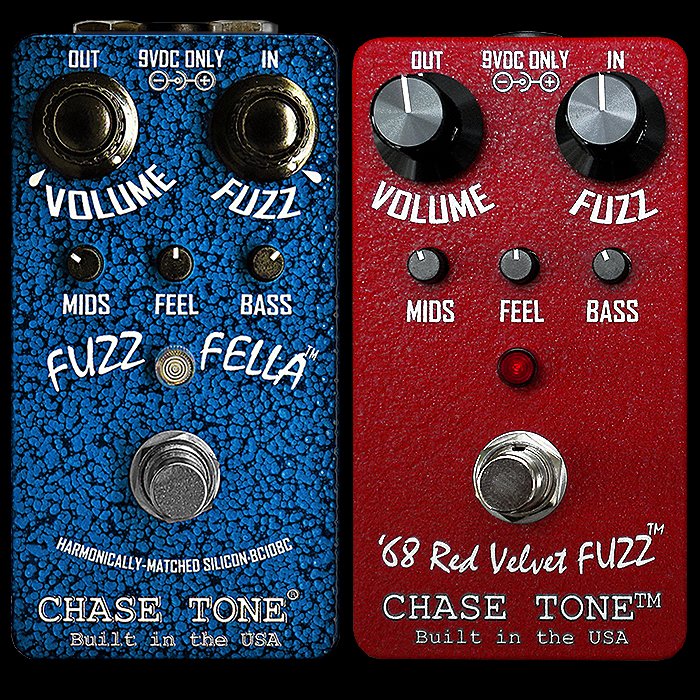 Kyle Chase Releases 70's style BC108C Fuzz Fella companion fuzz to now discontinued '68 Red Velvet Fuzz