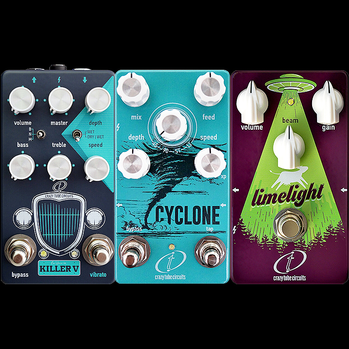 Crazy Tube Circuits has Released 3 Killer Pedals This Year Including the Brand New Magnatone-Inspired Killer V Vibra-Drive