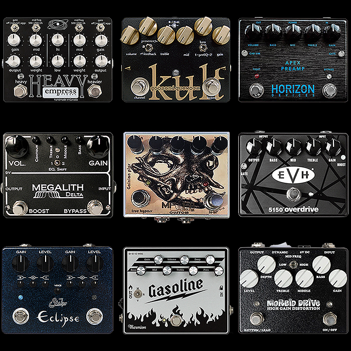 9 of the Best Horizontal Medium Enclosure High Gain Metal Distortion Pedals