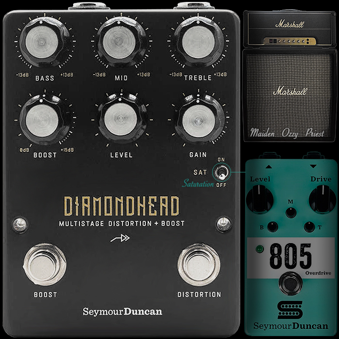 Seymour Duncan Unleashes 70's/80's Half-Stack Inspired Chewy Harmonics High Gain Diamondhead Multistage Distortion + Boost