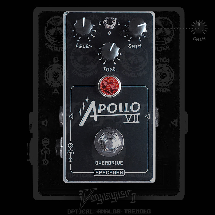 Spaceman Effects Delivers Voyager Tremolo Derived Articulate Apollo VII Overdrive