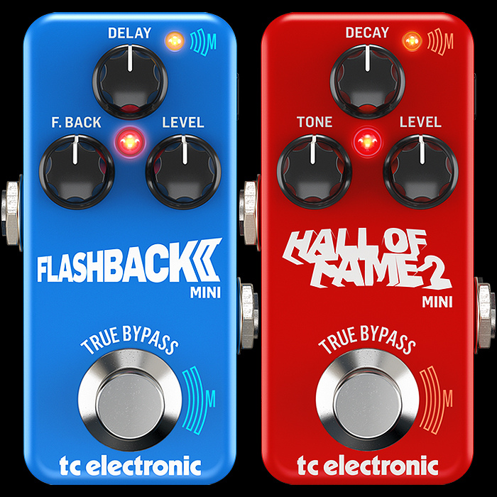 TC Electronic Completes Delay and Reverb Range Revamp with MKII MASH-Enabled versions of Mini Flashback and Hall of Fame Pedals