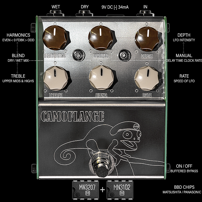 ThorpyFX Masters the Vintage Mistress High Frequency Shimmer with its new ingeniously tweakable Camoflange Flanger