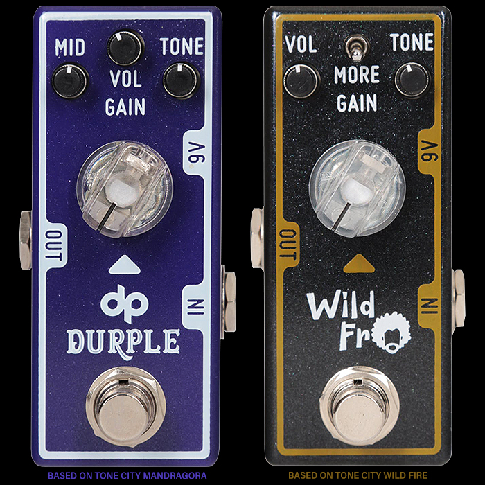 Tone City Collaborates with Two Celebrated Andertons Staffers for Artist Editions of its Mandragora and Wild Fire Gain Pedals