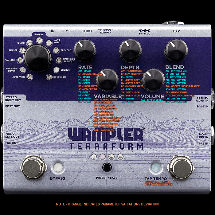 Brian Wampler Finally Releases his 11 Mode Terraform Modulation Workstation after a Year's Worth of Tweaking