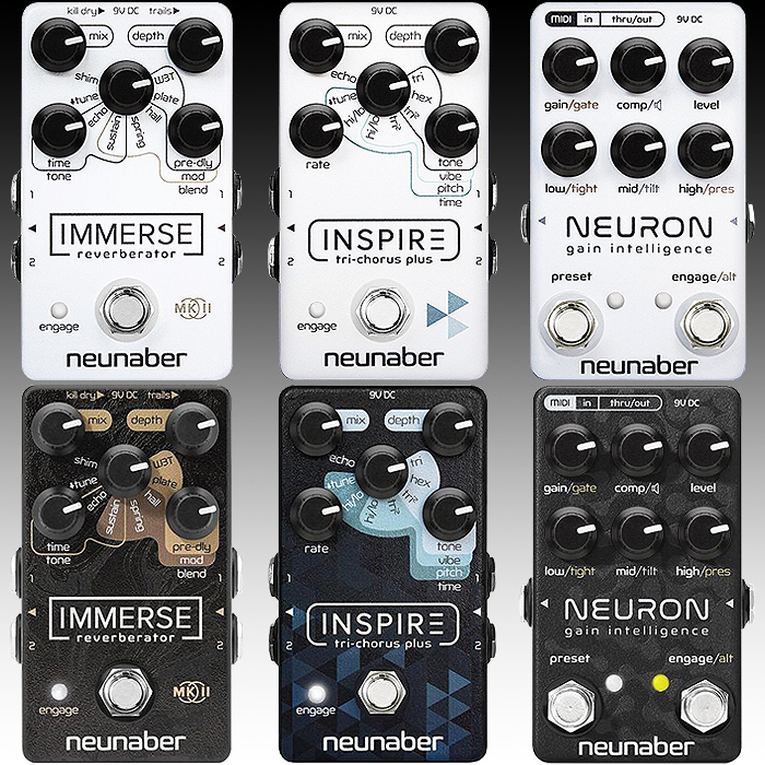 Neunaber Goes Opposites for Black Friday with White Out Enclosure Limited Editions of Immerse, Inspire and Neuron Pedals