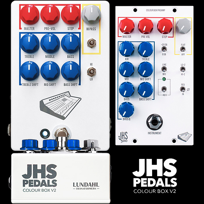 JHS Releases its New and Improved Colour Box V2 PreAmp