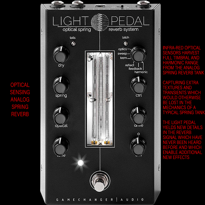 Gamechanger Audio Looks to Further Transform and Evolve Spring Reverb with its Forthcoming Revolutionary Light Pedal Optical Spring Reverb