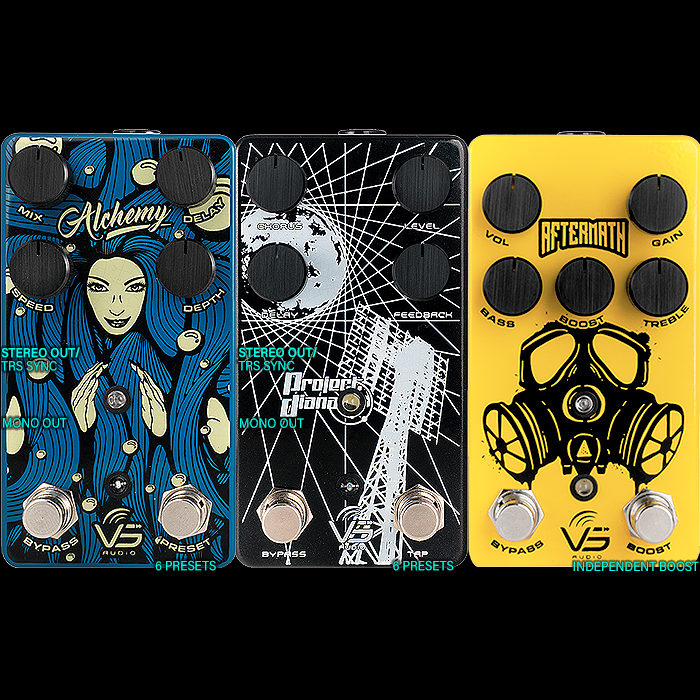Vs Audio will be introducing its 3 recent smart Dual-Footswitch Pedals at this week's Winter NAMM Show