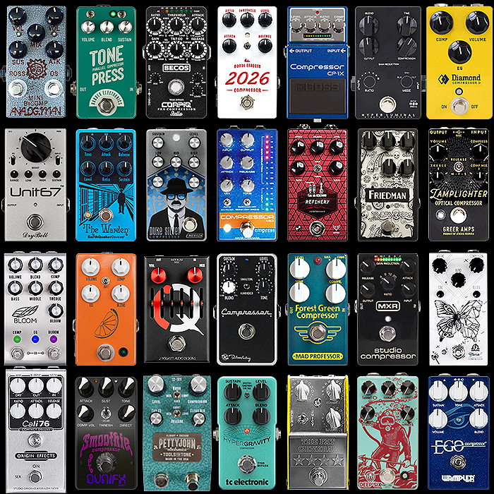 28 of the Best Compact Enclosure Compressor Pedals - 2020 Ultimate Selection