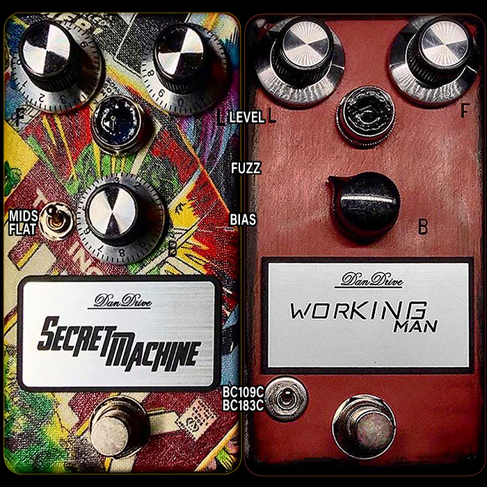 DanDrive Pedal Adds 2 More Compact Pedals to the Core Range - the Secret Machine Fuzz and Working Man Fuzz