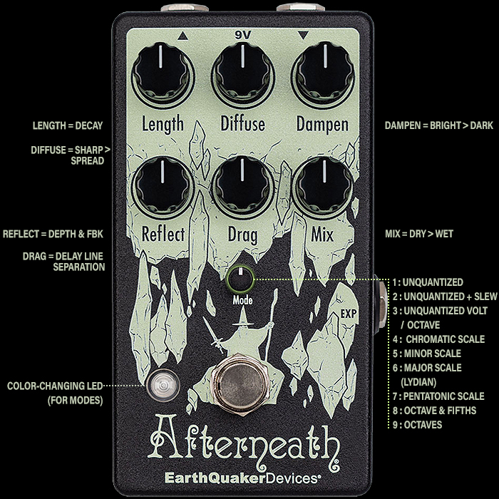 Earthquaker Devices' Fantastic Forthcoming V3 Afterneath Otherworldly Reverberator is actually an entirely new pedal with its 9 New Modes