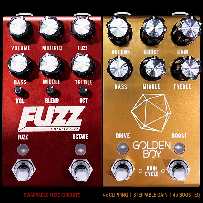 Jackson Audio Announces 3 innovative forthcoming pedals - The Modular Fuzz, Golden Boy Programmable Overdrive + Boost and El Guapo Programmable Distortion + Overdrive