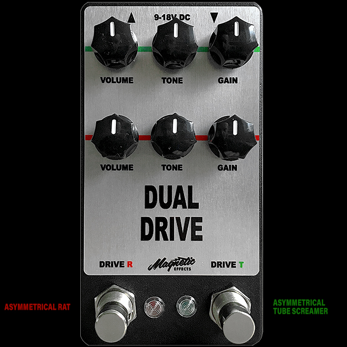 Magnetic Effects Announces Limited Edition Dual Drive Rat and Tube Screamer Combination Pedal
