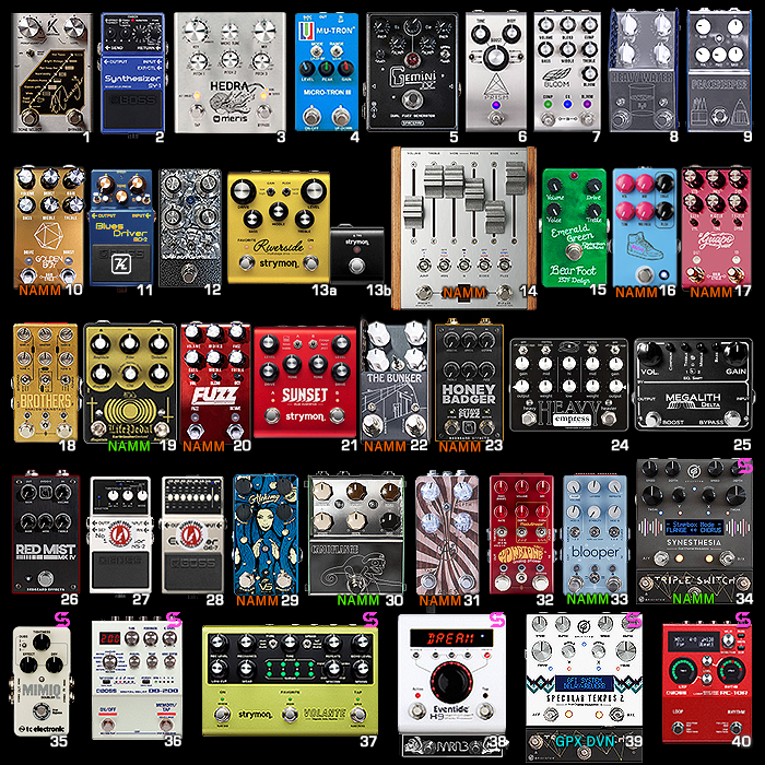 Post-NAMM Projected Pedal-Chain, 2020 Roadmap and Wishlist!