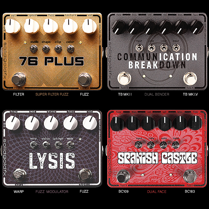 SolidGoldFX's BB-sized Extended Range Fuzz Pedals are Well Worth Your Consideration