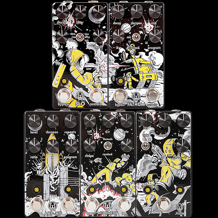 Walrus Audio Releases 5 Custom Limited Luna Artwork Series Pedals in Collaboration with Andertons