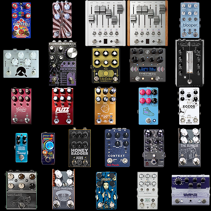 Top 26 Favourite Pedals Featured and Introduced at 2020 Winter NAMM - alphabetical