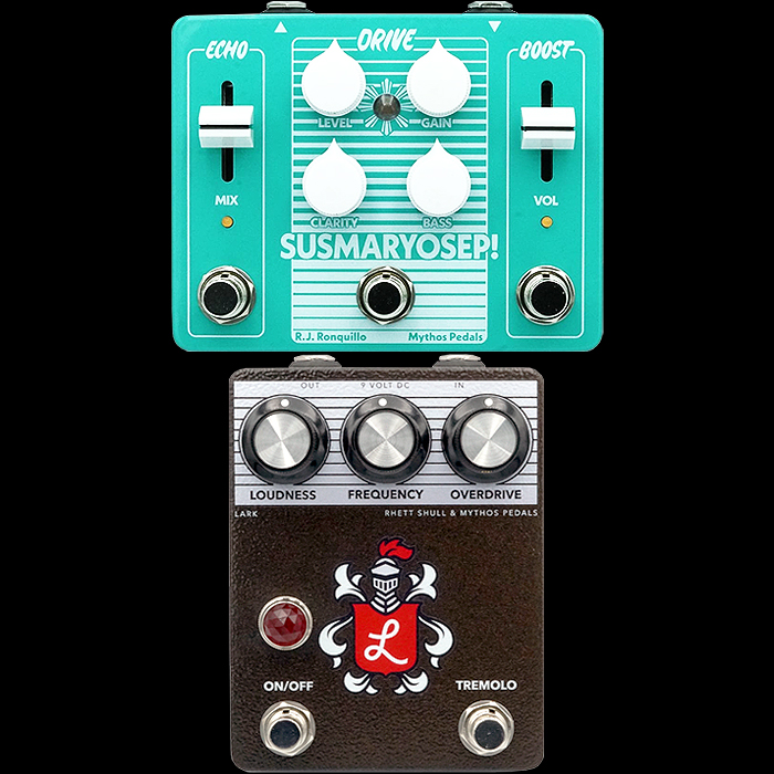 Mythos Pedals Delivers Unique Signature Multi-Function Drive Pedals for Rhett Shull and RJ Ronquillo - the Lark and the Susmaryosep!