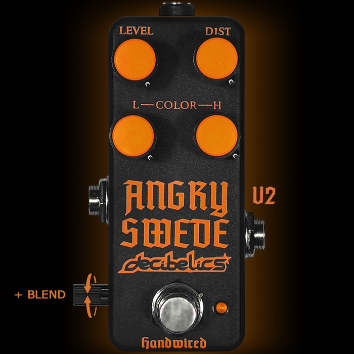Decibelics Reveals Forthcoming V2 Angry Swede Mini HM-2 Clone - now with added Blend Control