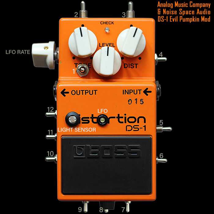 Analog Music Company & Noise Space Audio Deliver the Ultimate Live Breadboarding Experience with their Ultra-Modded DS-1 Evil Pumpkin Experimental Glitchy Oscillating Drive-Distortion-Fuzz-Synth
