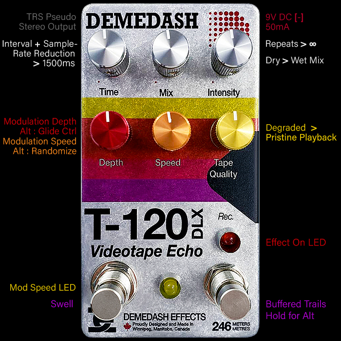 Steve Demedash Releases Best Version of his T-120 DLX Videotape Echo Tomorrow!