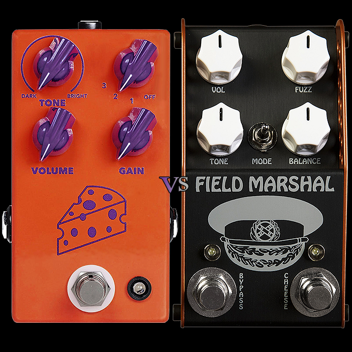 JHS Cheese Ball Fuzz vs ThorpyFX Field Marshal Fuzz