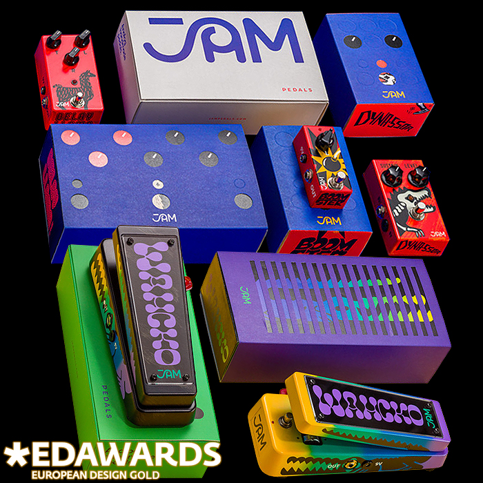 JAM Pedals Receives Gold 2020 European Design Award for its Packaging