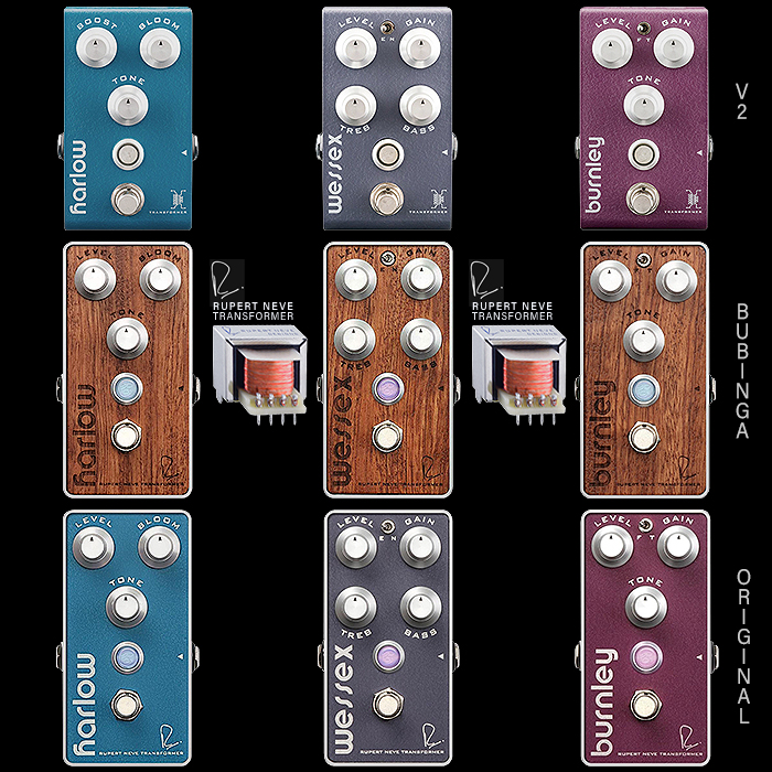 Bogner Releases Re-Voiced, Re-Formatted V2 Versions for its Compact Trifecta of Boost, Overdrive and Distortion Pedals