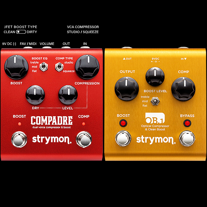 Strymon Launches Compadre Dual Voice VCA Compressor & JFET Boost Replacement for Discontinued OB.1