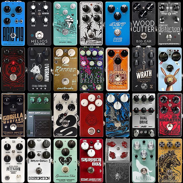 28 of the Best Compact Rat-Style Fuzz/Distortion Pedals - 2020 Ultimate Selection