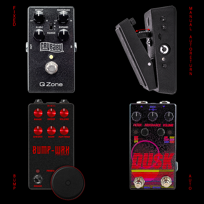 4 Degrees of Compact Enclosure Wah Pedals!