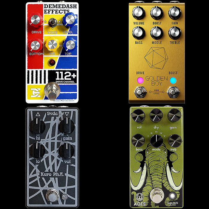 4 Recent Superior Extended Range Compact Enclosure Overdrive Pedals