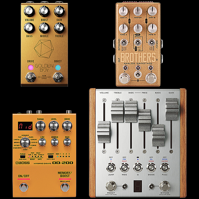 4 Fantastic Programmable Overdrive Pedals