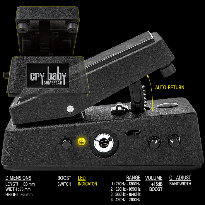 My Next Wah Pedal will be the just announced CryBaby Mini CBM535AR Auto-Return Wah