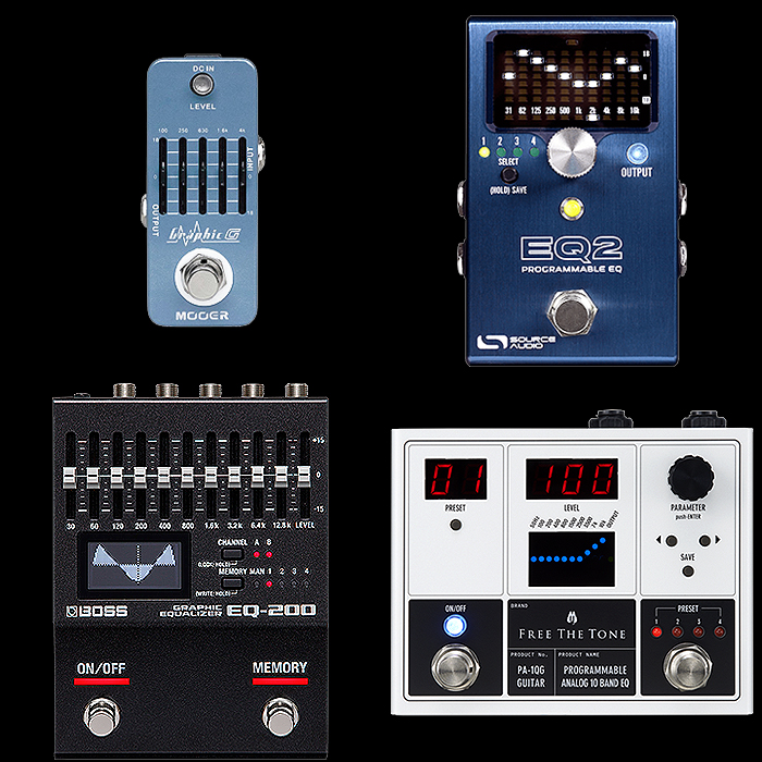 Best of Mini, Compact, Medium and Large EQ Pedals