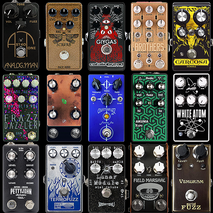 15 of the Best Everyday All-Rounder Mostly Silicon Transistor Compact Enclosure Fuzz Pedals