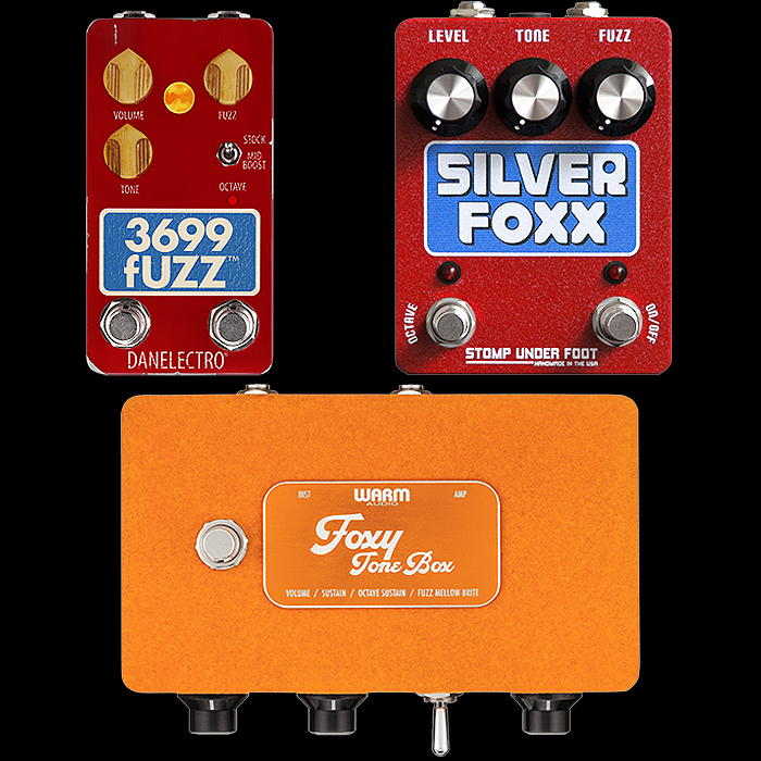 3 Recent Compact, Medium and Large Foxx Tone Machine Fuzz Replicas