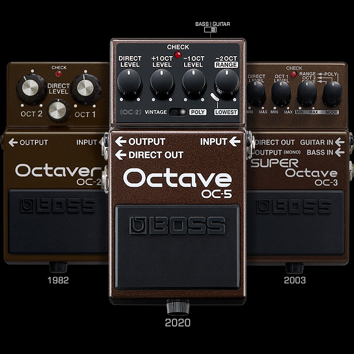 Boss's 3rd Generation OC-5 Octave introduces state-of-the art tracking and new Upper Octave, while expanding on the very best of the OC-2 and OC-3