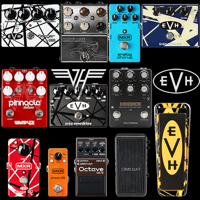 Eddie Van Halen's Pedals, Typical Pedalboard Arrangement and Suitable Alternatives