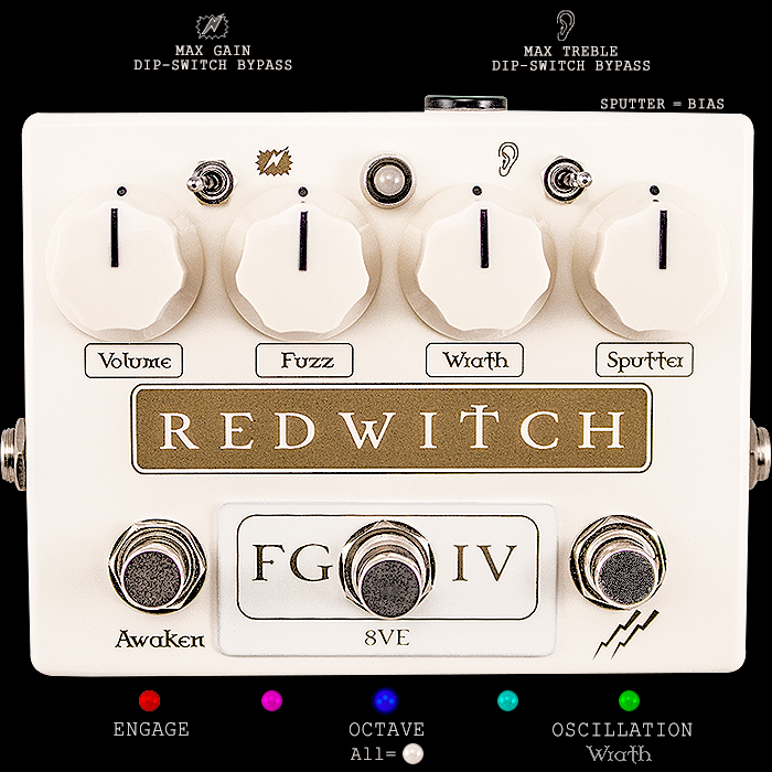 Ben Fulton's Red Witch Pedals Releases Ultimate Fuzz God IV Edition which combines Twin BC109 Silicon Fuzz with Octavia, Oscillation and Extended Configurability