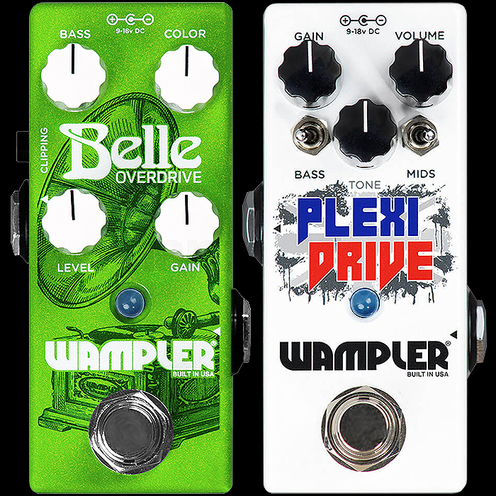 Brian Wampler Delivers 2 more Killer Mini Drive Pedals - the Belle Overdrive Mini and Plexi-Drive Mini