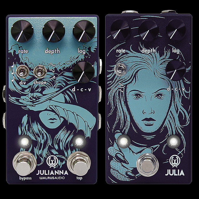 Walrus Audio Releases Julianna Deluxe Chorus with added Stereo Soundstage, Second Tap-Tempo Footswitch and Smart Alternative Functions