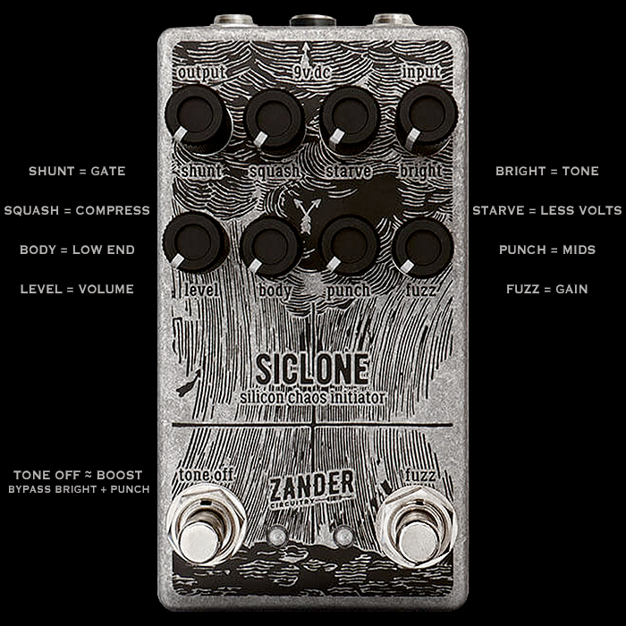 Maverick Inflection #1 : Zander Circuitry Compact Enclosure Siclone Silicon Chaos Initiator Fuzz