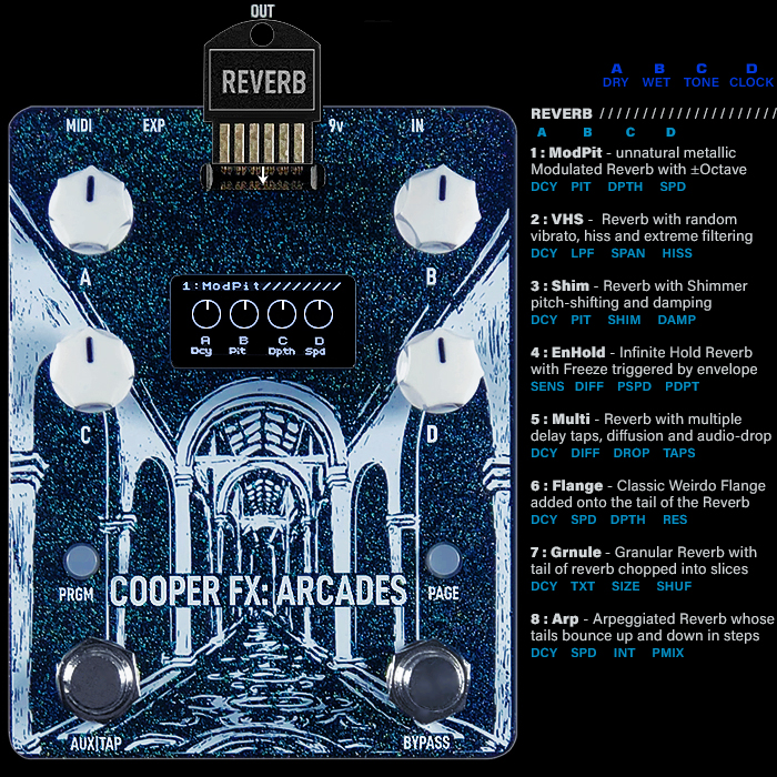 Cooper FX Arcades Modular Multi-FX Workstation : Card Spotlight Series #4 : REVERB