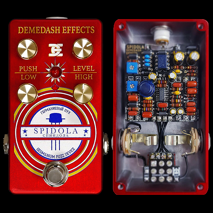 Steve Demedash Releases the Rather Clever Spidola Germanium Fuzz - which Internally Splits the High and Low Frequency Signal Generation