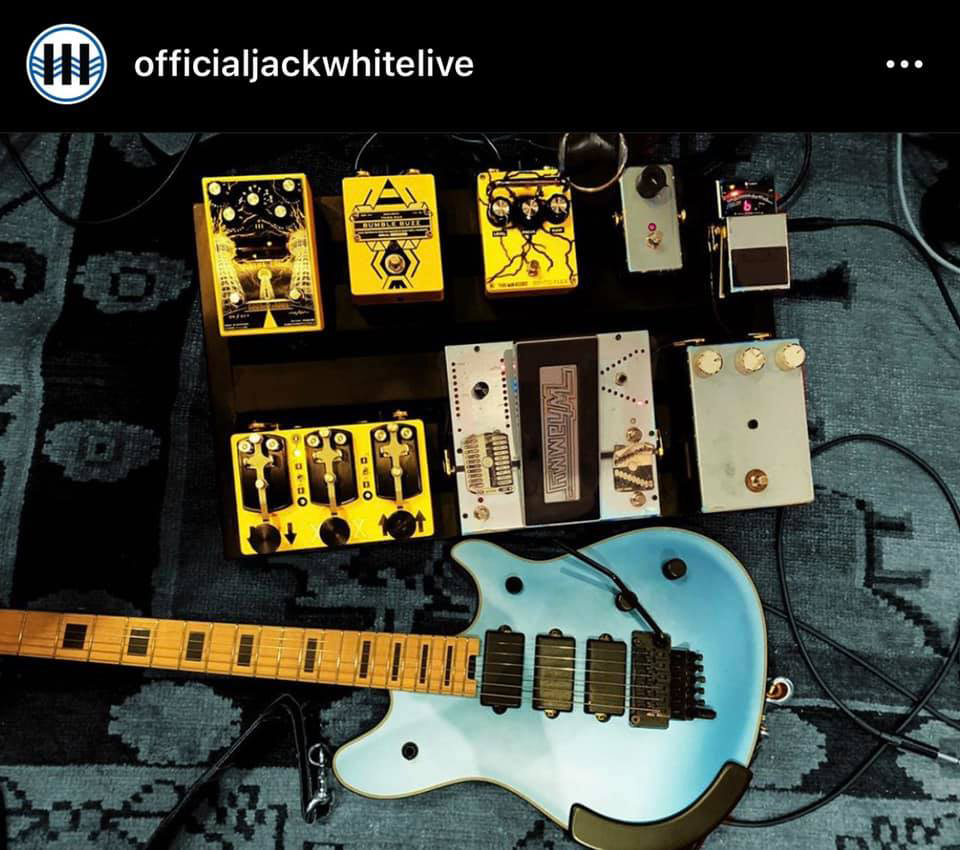 Jack White's Pedalboard for October 10th 2020 SNL Performance